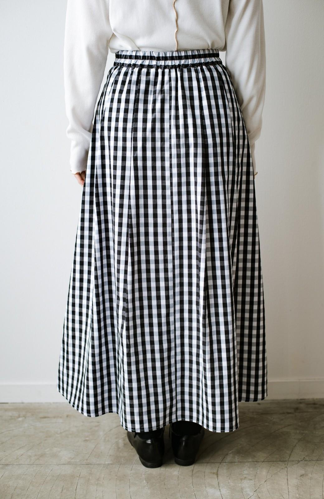 haco! カジュアルトップスと合わせても女っぽがかなう!気になる何もかもを隠してくれるマキシスカート by que made me <チェック>の商品写真11
