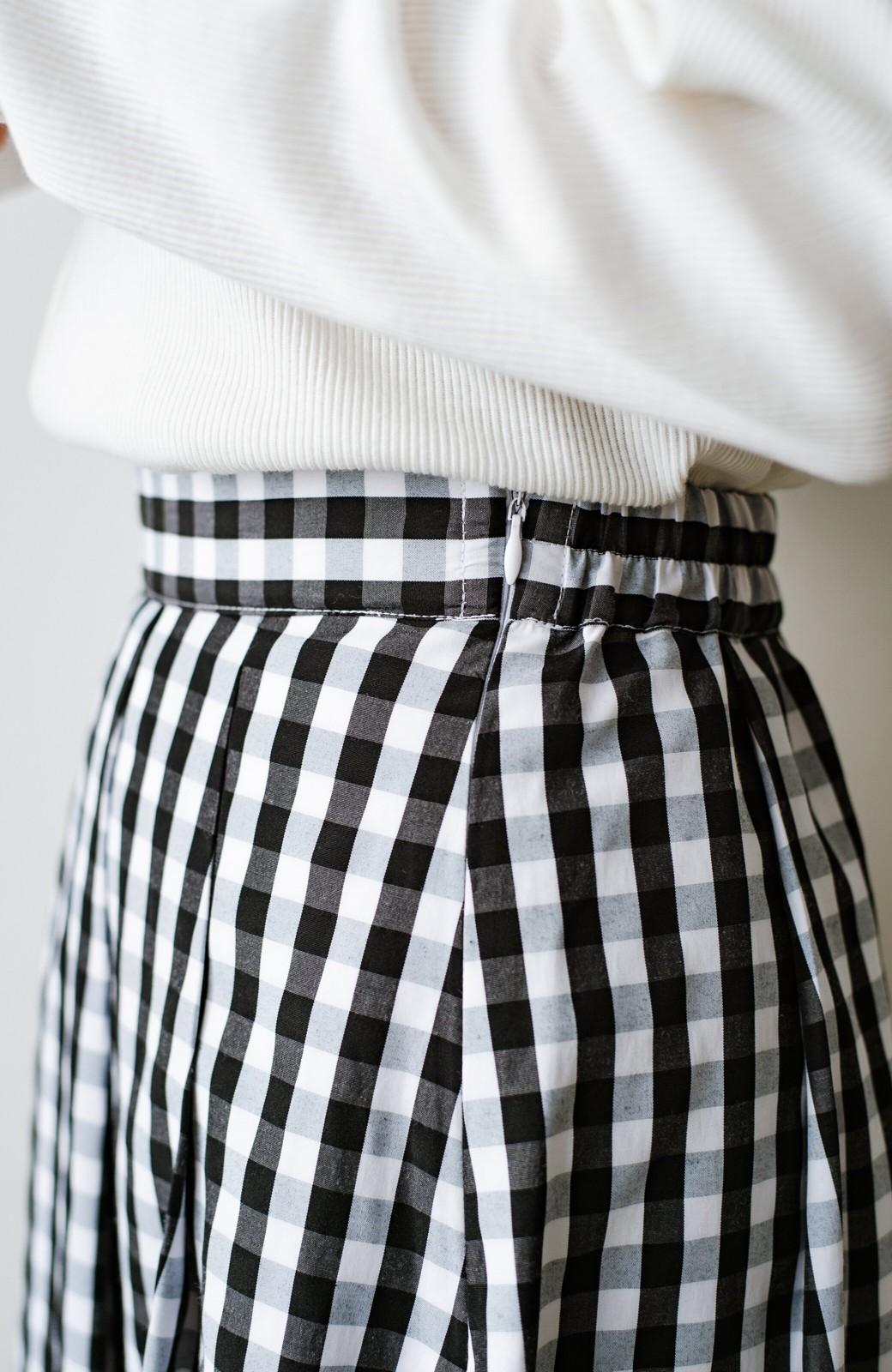haco! カジュアルトップスと合わせても女っぽがかなう!気になる何もかもを隠してくれるマキシスカート by que made me <チェック>の商品写真12