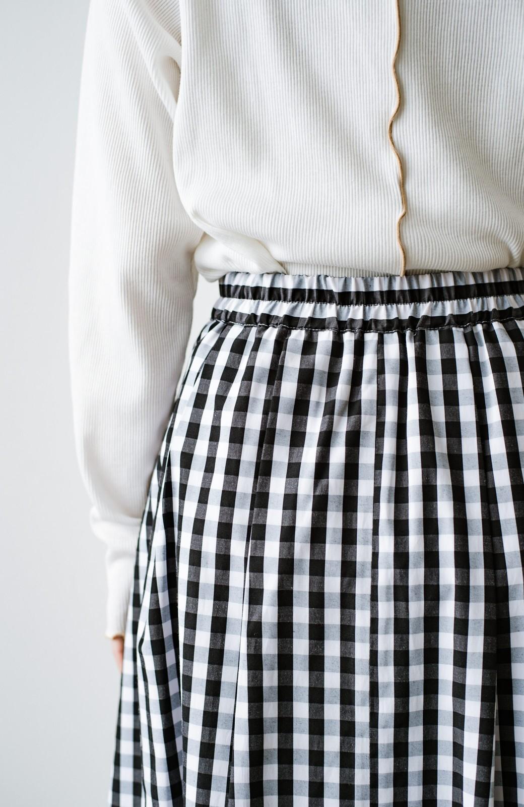 haco! カジュアルトップスと合わせても女っぽがかなう!気になる何もかもを隠してくれるマキシスカート by que made me <チェック>の商品写真13
