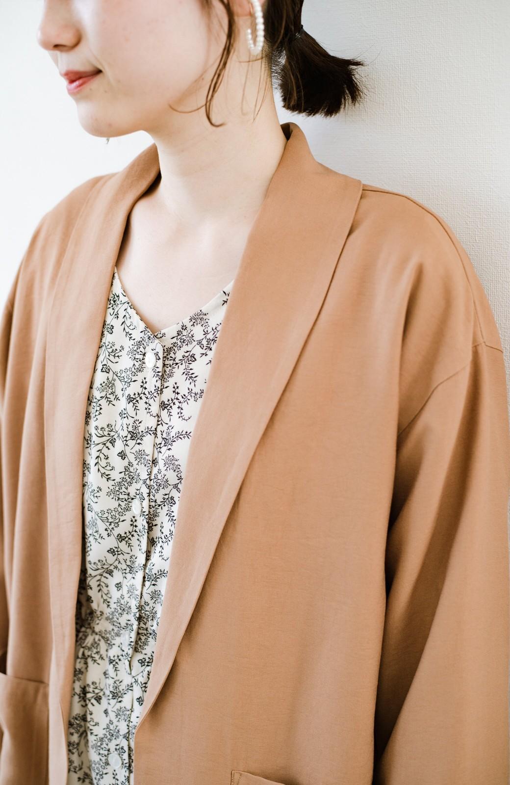 haco! さらりと羽織ってきれい見え カジュアルにも着られてほどよいきちんと感が頼りになるリラックスジャケット <キャメル>の商品写真6