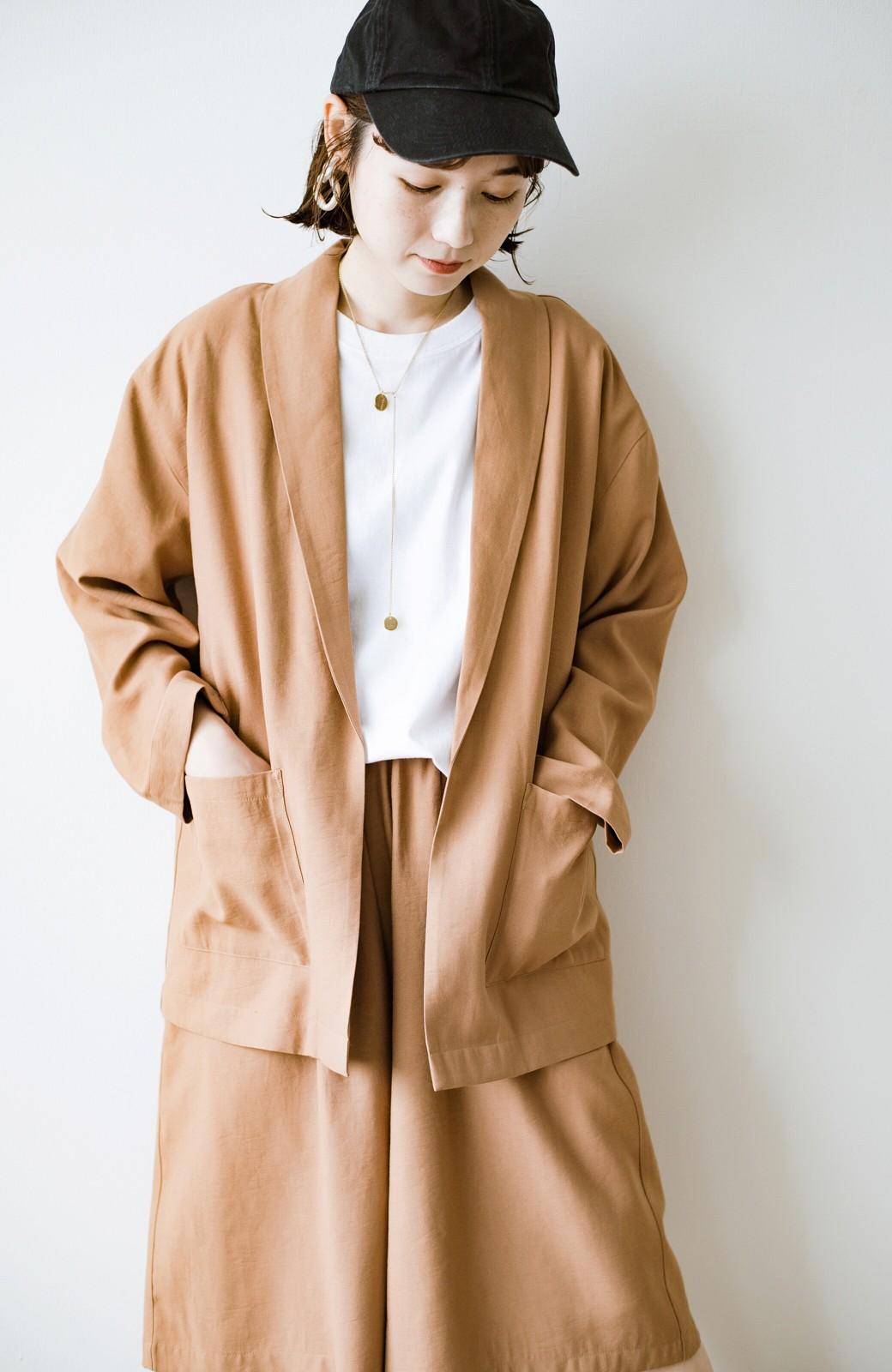haco! さらりと羽織ってきれい見え カジュアルにも着られてほどよいきちんと感が頼りになるリラックスジャケット <キャメル>の商品写真4