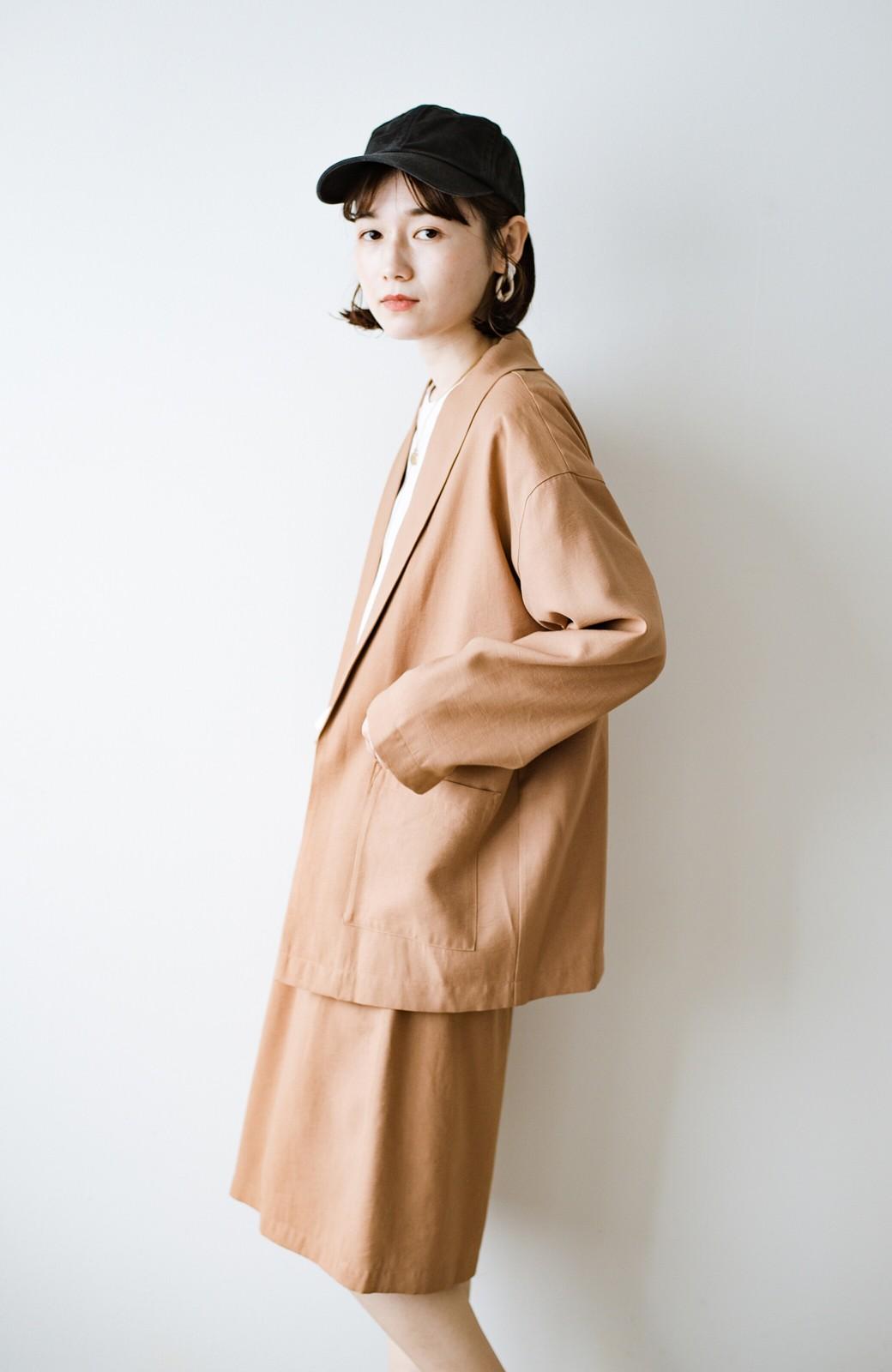 haco! さらりと羽織ってきれい見え カジュアルにも着られてほどよいきちんと感が頼りになるリラックスジャケット <キャメル>の商品写真10
