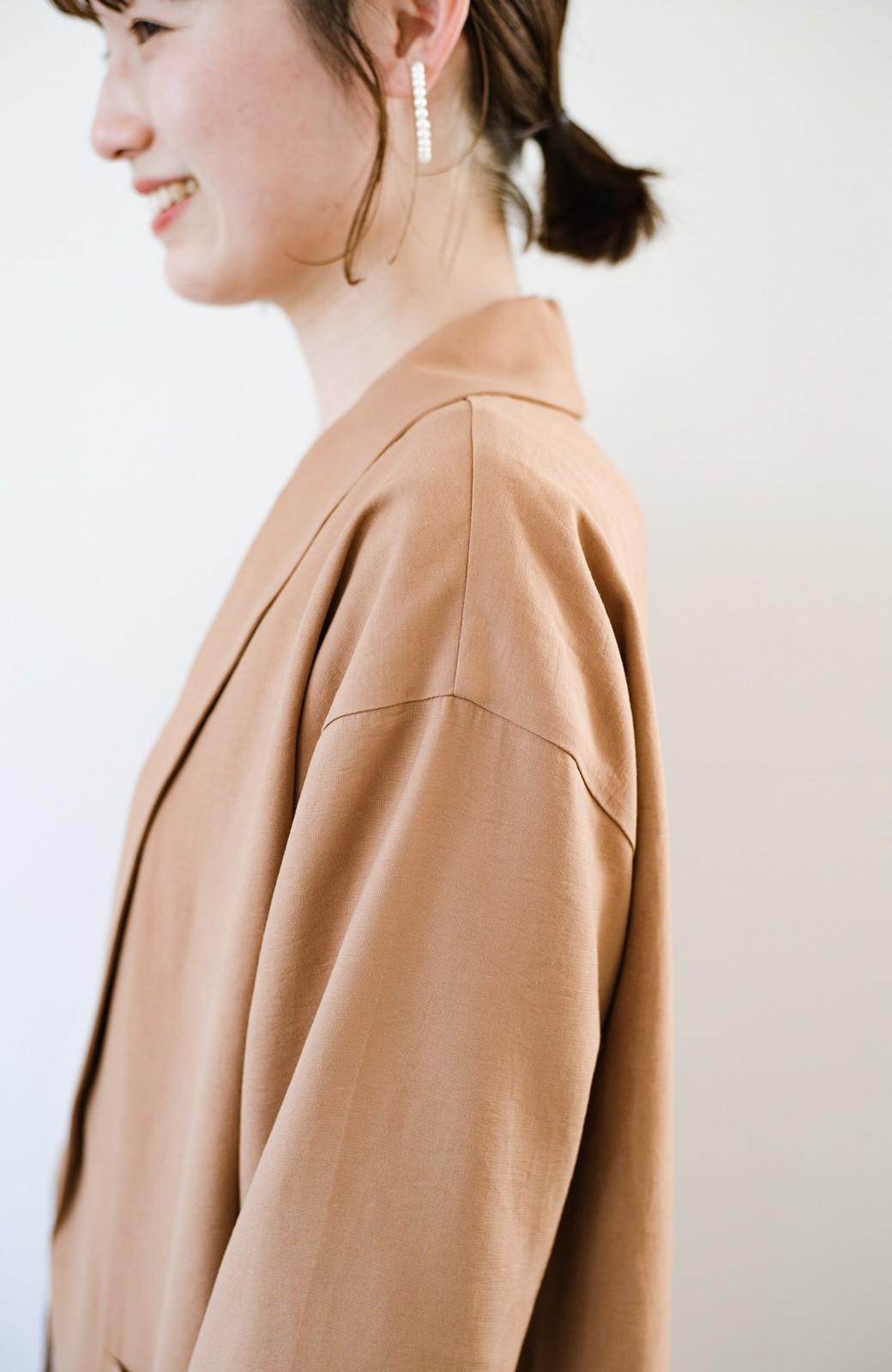 haco! さらりと羽織ってきれい見え カジュアルにも着られてほどよいきちんと感が頼りになるリラックスジャケット <キャメル>の商品写真9