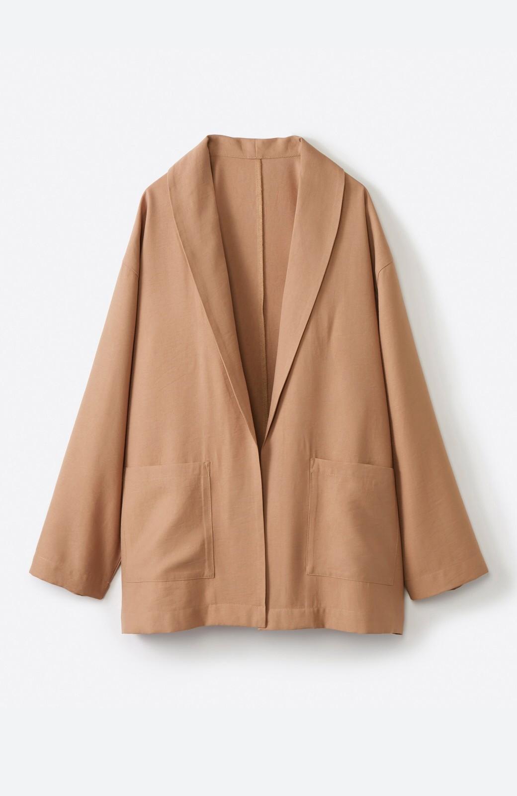 haco! さらりと羽織ってきれい見え カジュアルにも着られてほどよいきちんと感が頼りになるリラックスジャケット <キャメル>の商品写真2