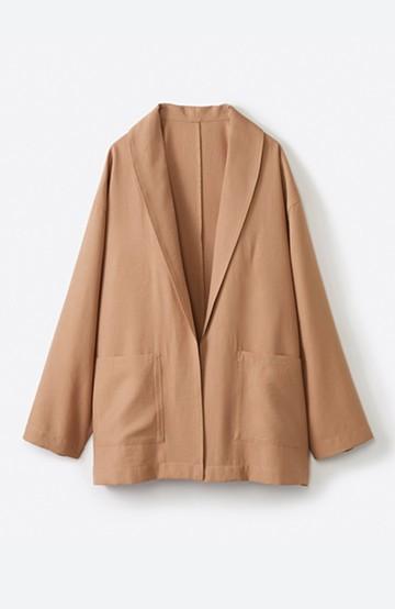 haco! さらりと羽織ってきれい見え カジュアルにも着られてほどよいきちんと感が頼りになるリラックスジャケット <キャメル>の商品写真