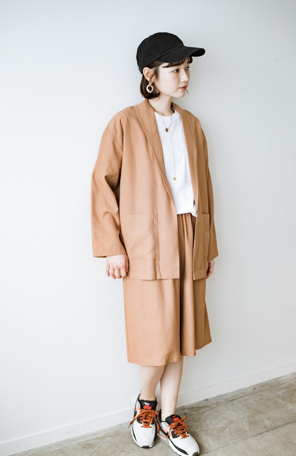 haco! さらりと羽織ってきれい見え カジュアルにも着られてほどよいきちんと感が頼りになるリラックスジャケット <キャメル>の商品写真16
