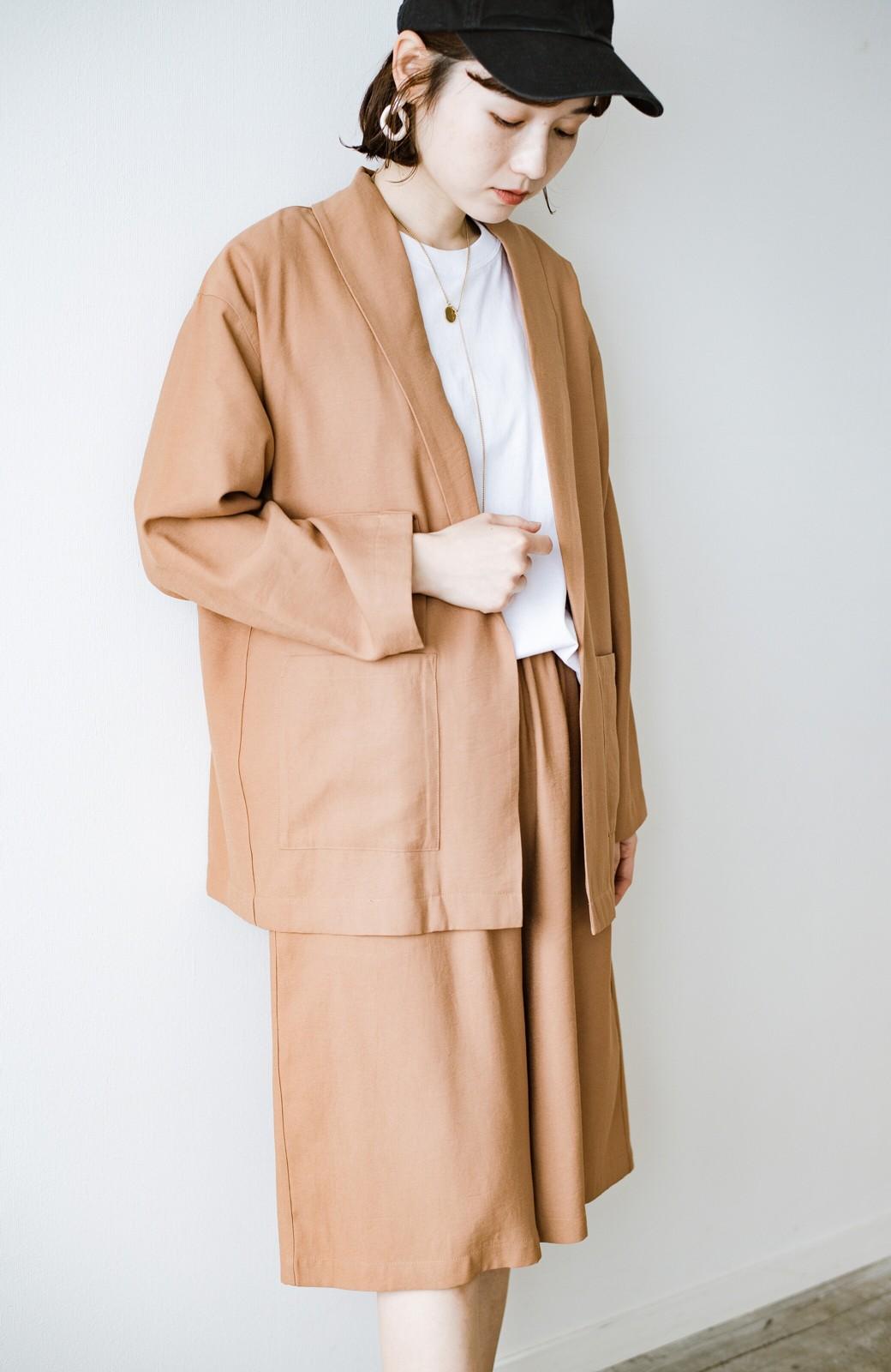 haco! さらりと羽織ってきれい見え カジュアルにも着られてほどよいきちんと感が頼りになるリラックスジャケット <キャメル>の商品写真19