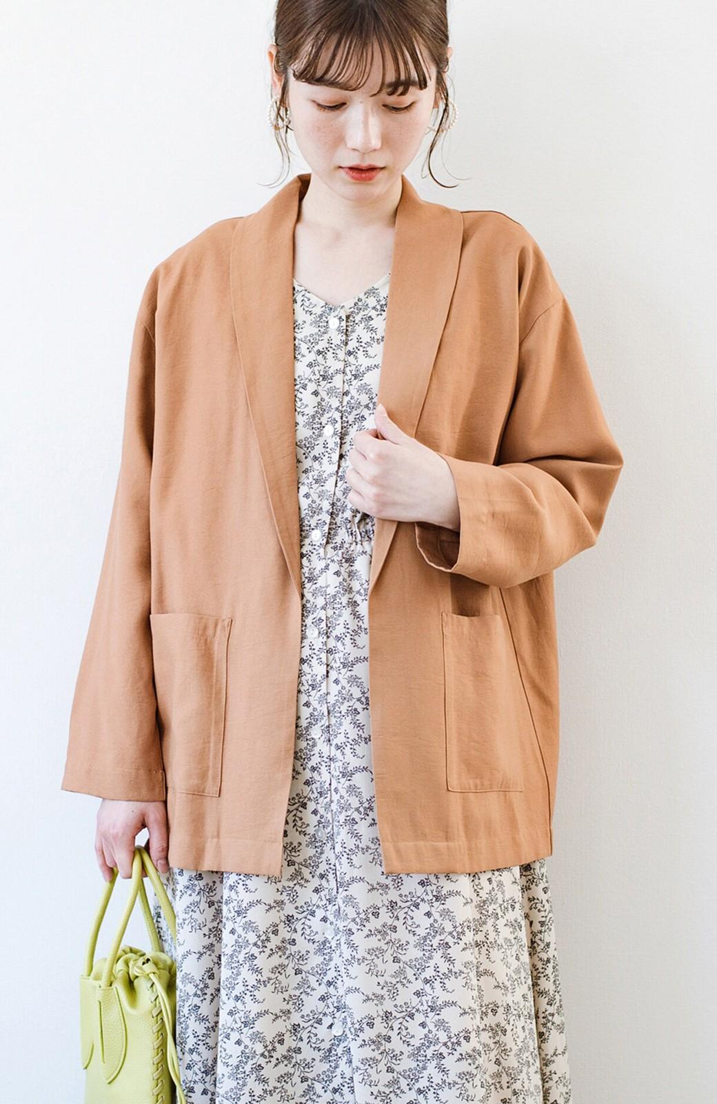 haco! さらりと羽織ってきれい見え カジュアルにも着られてほどよいきちんと感が頼りになるリラックスジャケット <キャメル>の商品写真3