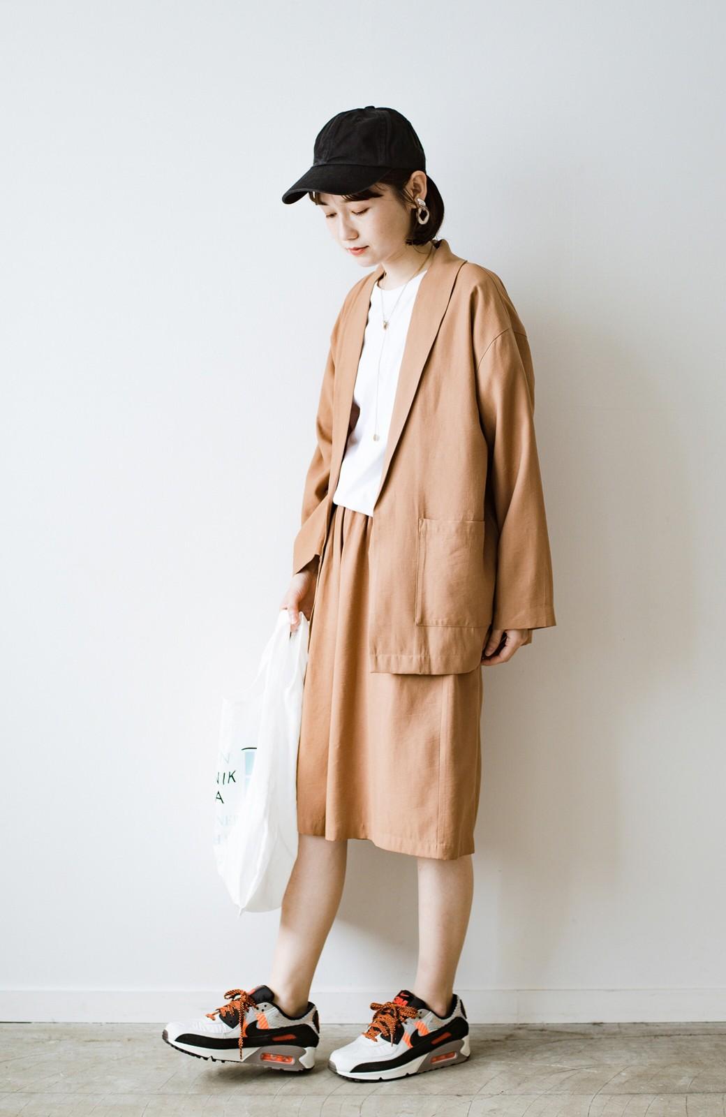 haco! さらりと羽織ってきれい見え カジュアルにも着られてほどよいきちんと感が頼りになるリラックスジャケット <キャメル>の商品写真13