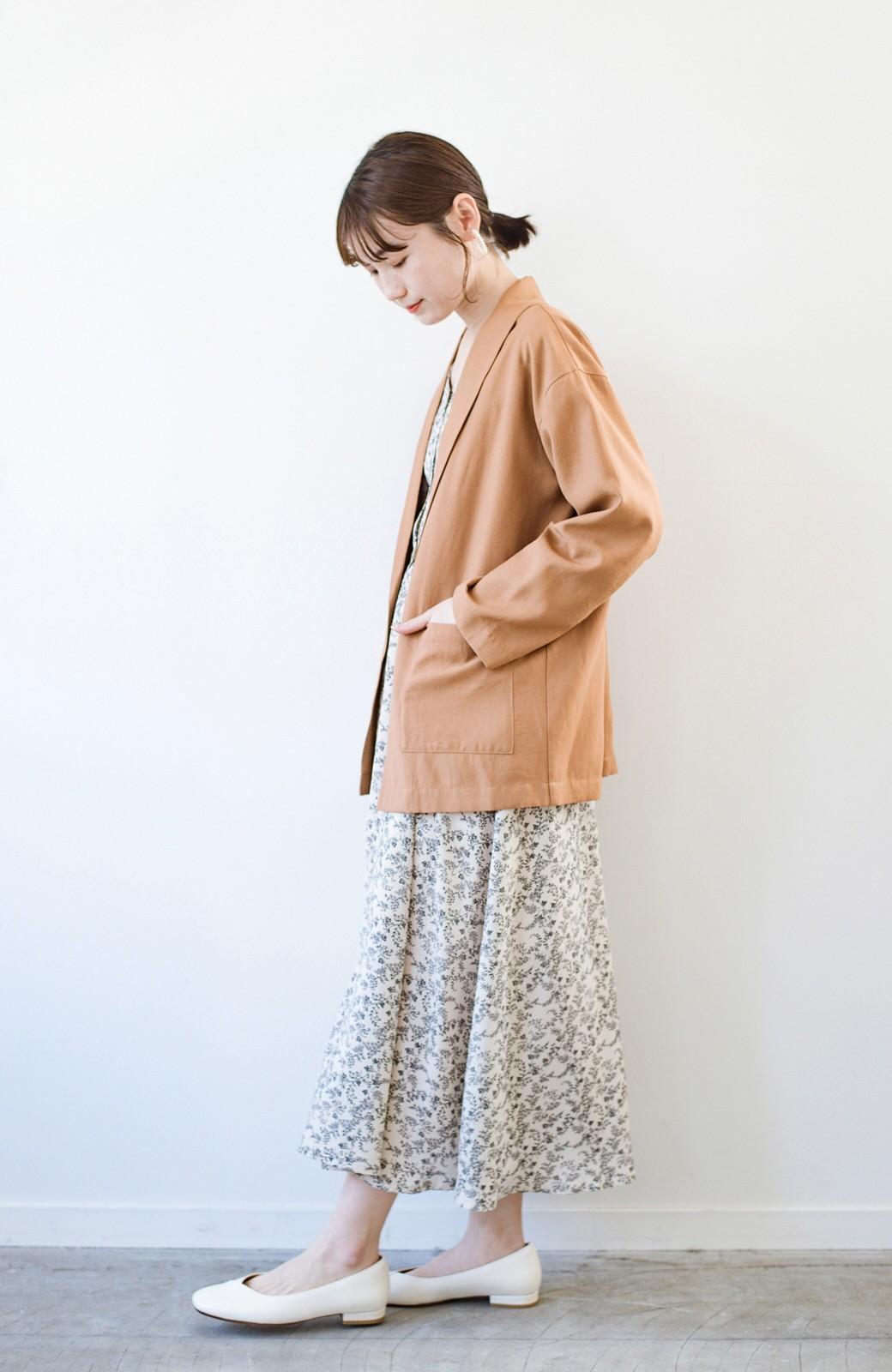 haco! さらりと羽織ってきれい見え カジュアルにも着られてほどよいきちんと感が頼りになるリラックスジャケット <キャメル>の商品写真14