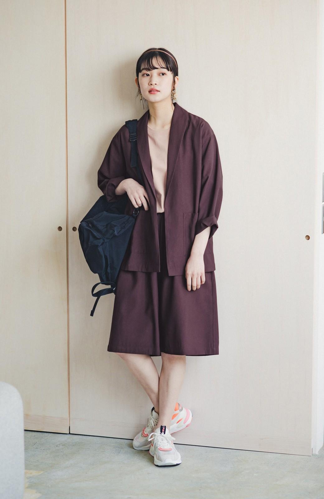 haco! さらりと羽織ってきれい見え カジュアルにも着られてほどよいきちんと感が頼りになるリラックスジャケット <チョコ>の商品写真6