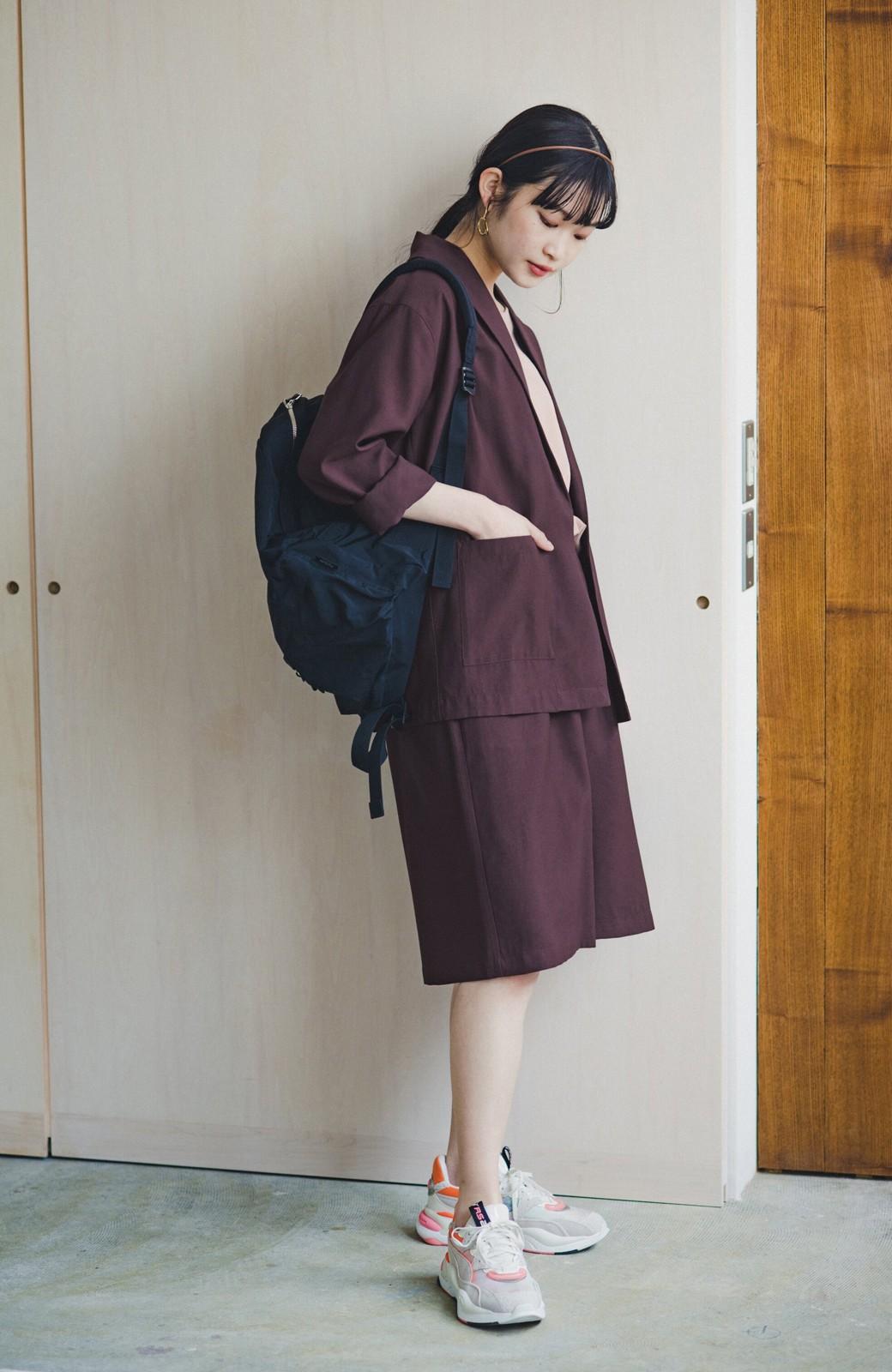 haco! さらりと羽織ってきれい見え カジュアルにも着られてほどよいきちんと感が頼りになるリラックスジャケット <チョコ>の商品写真7