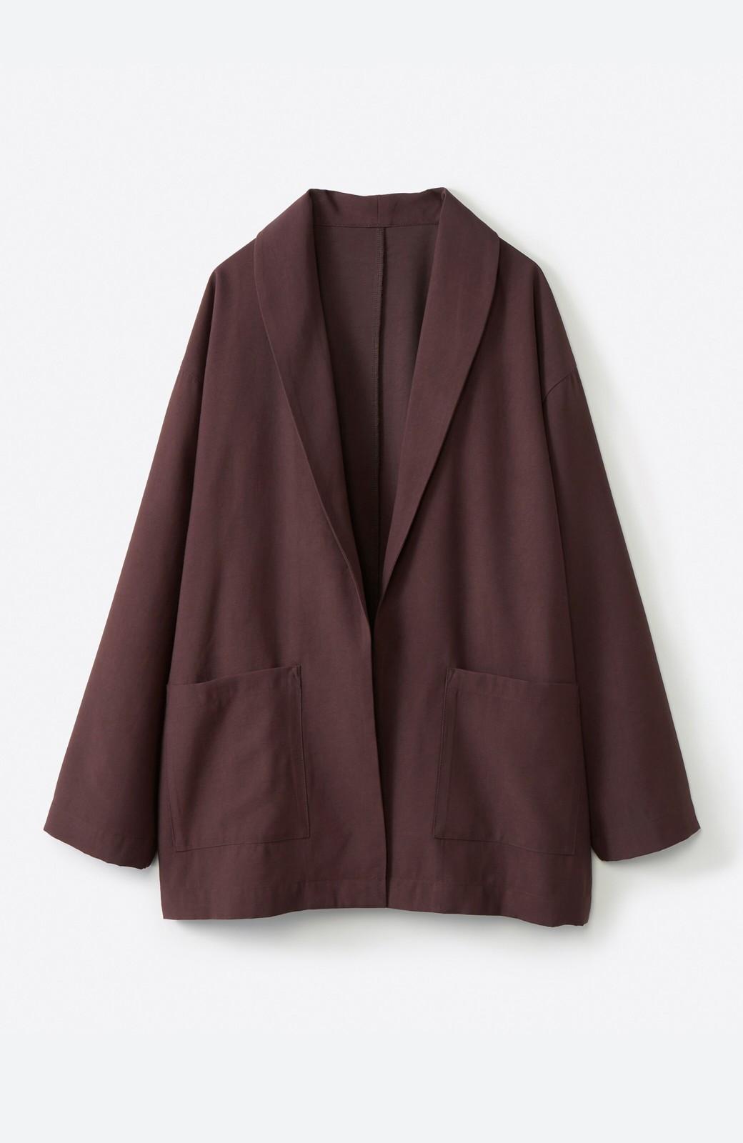 haco! さらりと羽織ってきれい見え カジュアルにも着られてほどよいきちんと感が頼りになるリラックスジャケット <チョコ>の商品写真2