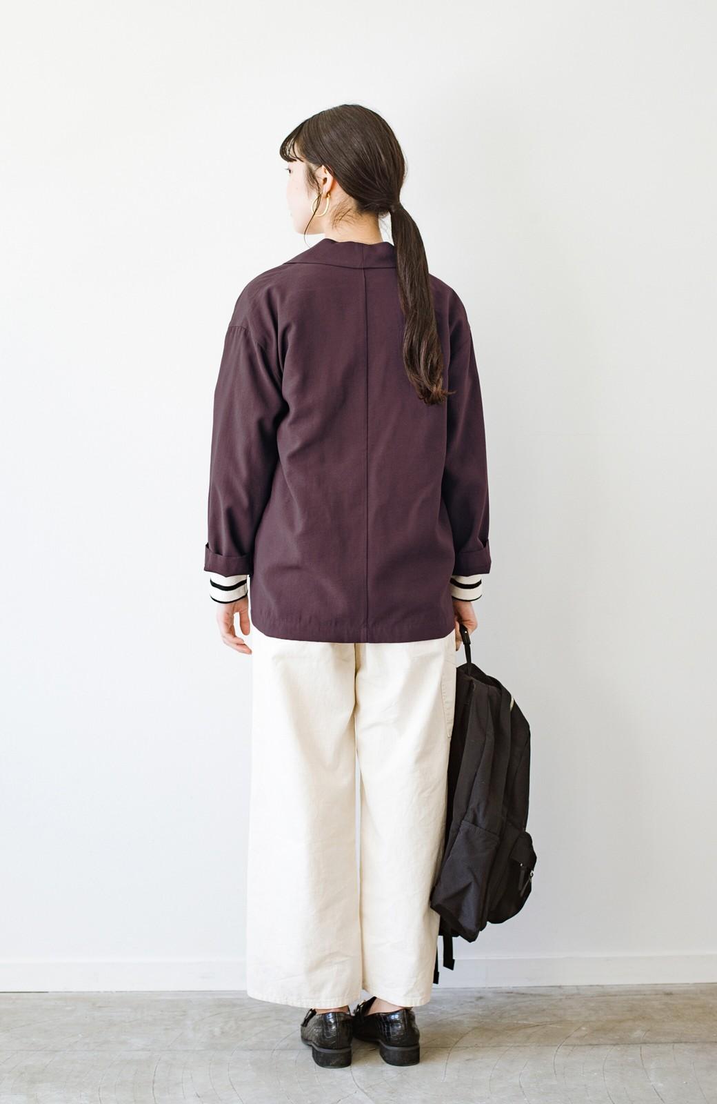 haco! さらりと羽織ってきれい見え カジュアルにも着られてほどよいきちんと感が頼りになるリラックスジャケット <チョコ>の商品写真13
