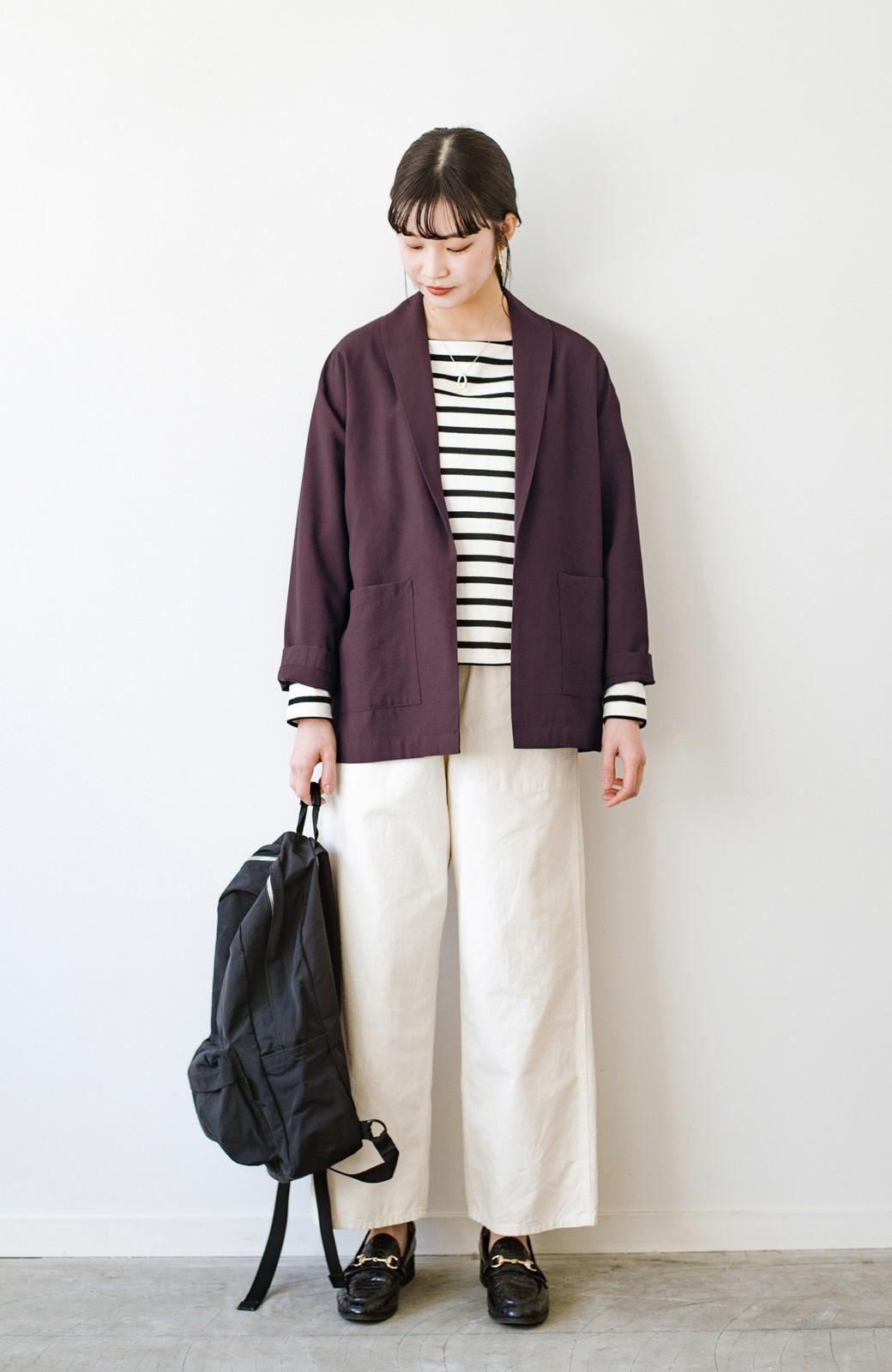 haco! さらりと羽織ってきれい見え カジュアルにも着られてほどよいきちんと感が頼りになるリラックスジャケット <チョコ>の商品写真10