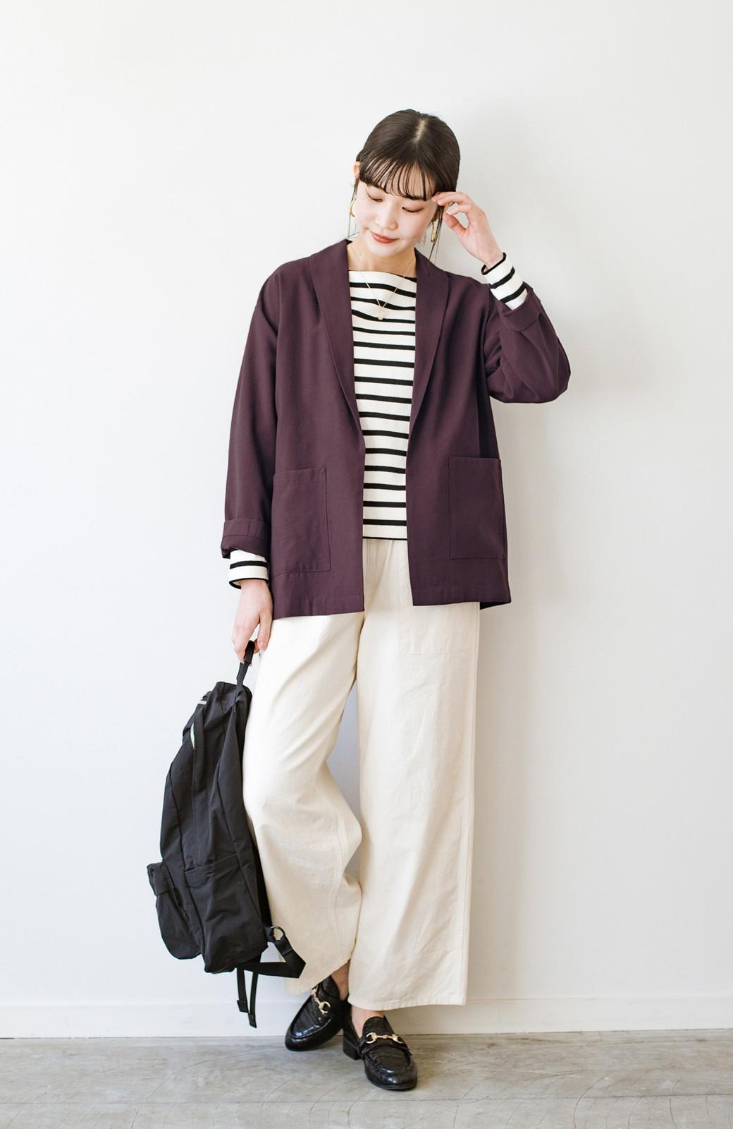 haco! さらりと羽織ってきれい見え カジュアルにも着られてほどよいきちんと感が頼りになるリラックスジャケット <チョコ>の商品写真11