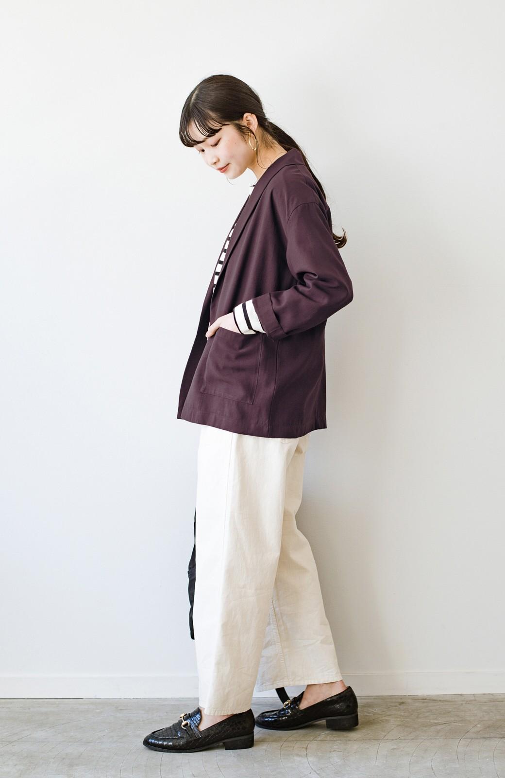 haco! さらりと羽織ってきれい見え カジュアルにも着られてほどよいきちんと感が頼りになるリラックスジャケット <チョコ>の商品写真12