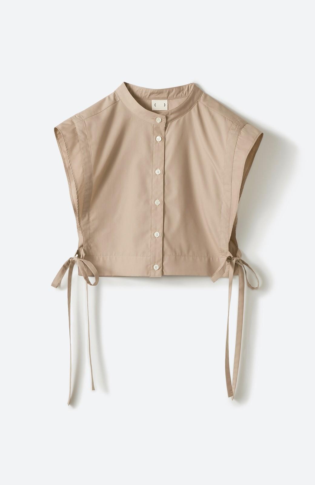 haco! いろいろ着まわせて簡単に今っぽコーデが完成!さらりとシャツ素材が心地いいベストとワンピースのセット <ベージュ>の商品写真7
