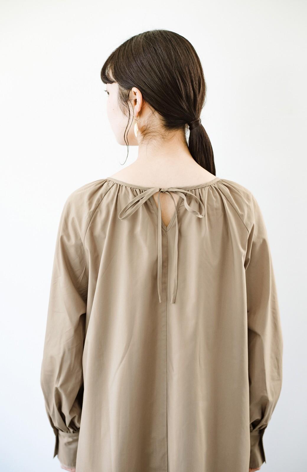 haco! いろいろ着まわせて簡単に今っぽコーデが完成!さらりとシャツ素材が心地いいベストとワンピースのセット <ベージュ>の商品写真11