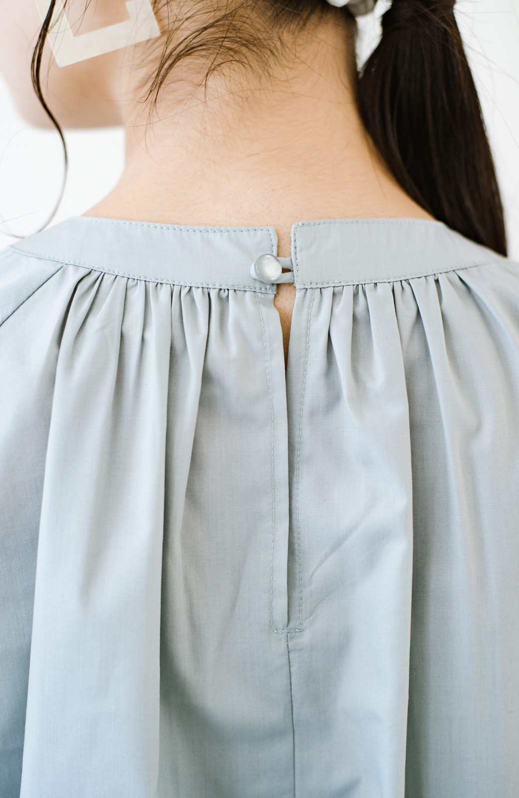 haco! パッと着るだけで新鮮&おしゃれ見え!ゆるめサイズが今っぽいチャイナボタンブラウス <ミント>の商品写真10
