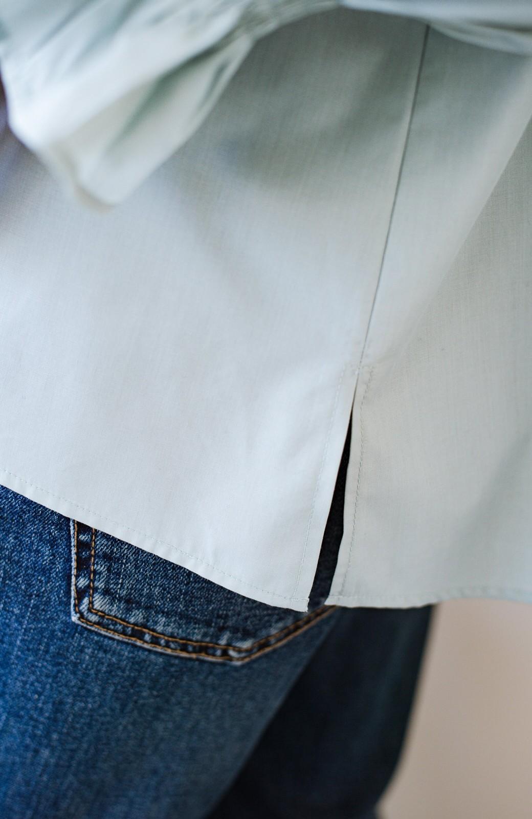 haco! パッと着るだけで新鮮&おしゃれ見え!ゆるめサイズが今っぽいチャイナボタンブラウス <ミント>の商品写真6