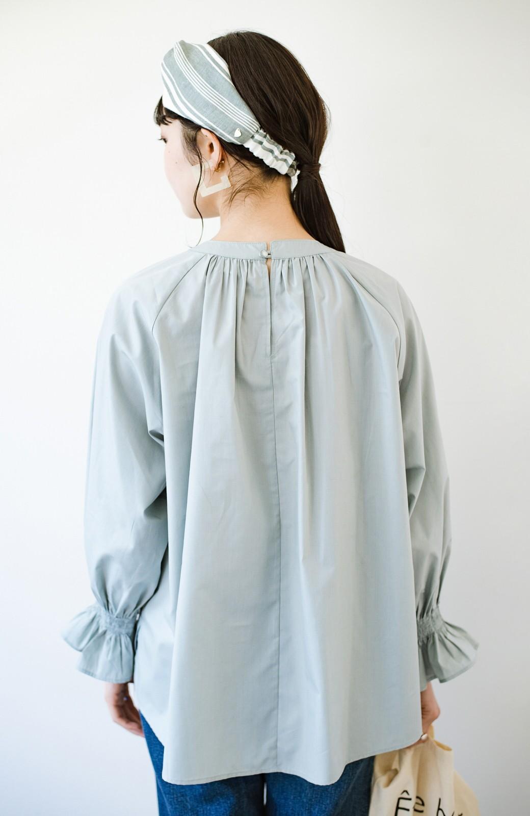 haco! パッと着るだけで新鮮&おしゃれ見え!ゆるめサイズが今っぽいチャイナボタンブラウス <ミント>の商品写真22