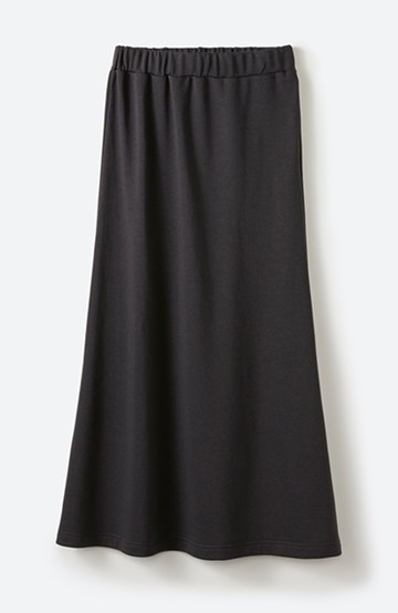 haco! 【洗濯機洗い可】日々に彩りをプラス!おしゃれ度と気分を上げてくれる綺麗色スカート <チャコール>の商品写真