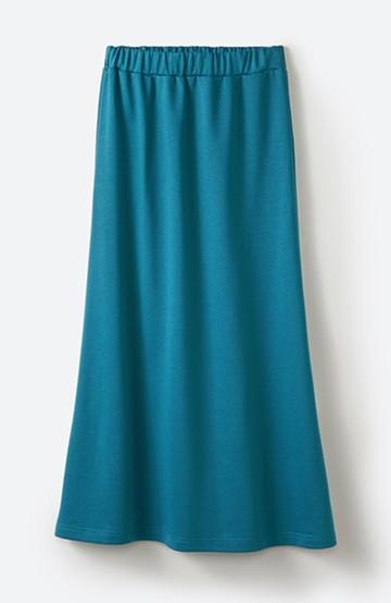 haco! 【洗濯機洗い可】日々に彩りをプラス!おしゃれ度と気分を上げてくれる綺麗色スカート <ブルー>の商品写真