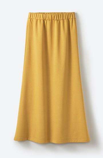 haco! 【洗濯機洗い可】日々に彩りをプラス!おしゃれ度と気分を上げてくれる綺麗色スカート <イエロー>の商品写真