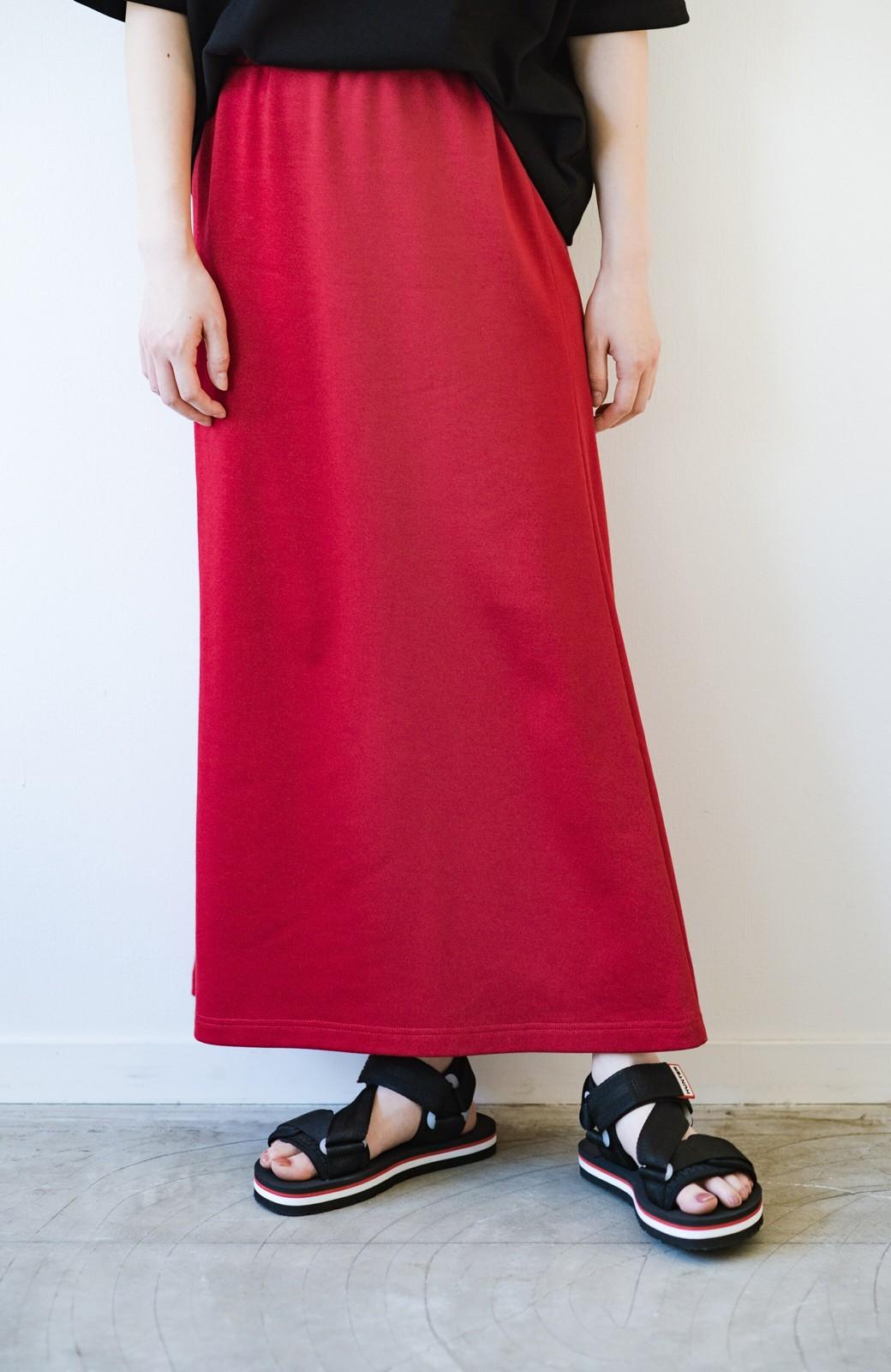 haco! 【洗濯機洗い可】日々に彩りをプラス!おしゃれ度と気分を上げてくれる綺麗色スカート <レッド>の商品写真7