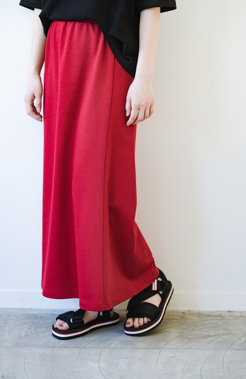 haco! 【洗濯機洗い可】日々に彩りをプラス!おしゃれ度と気分を上げてくれる綺麗色スカート <レッド>の商品写真14