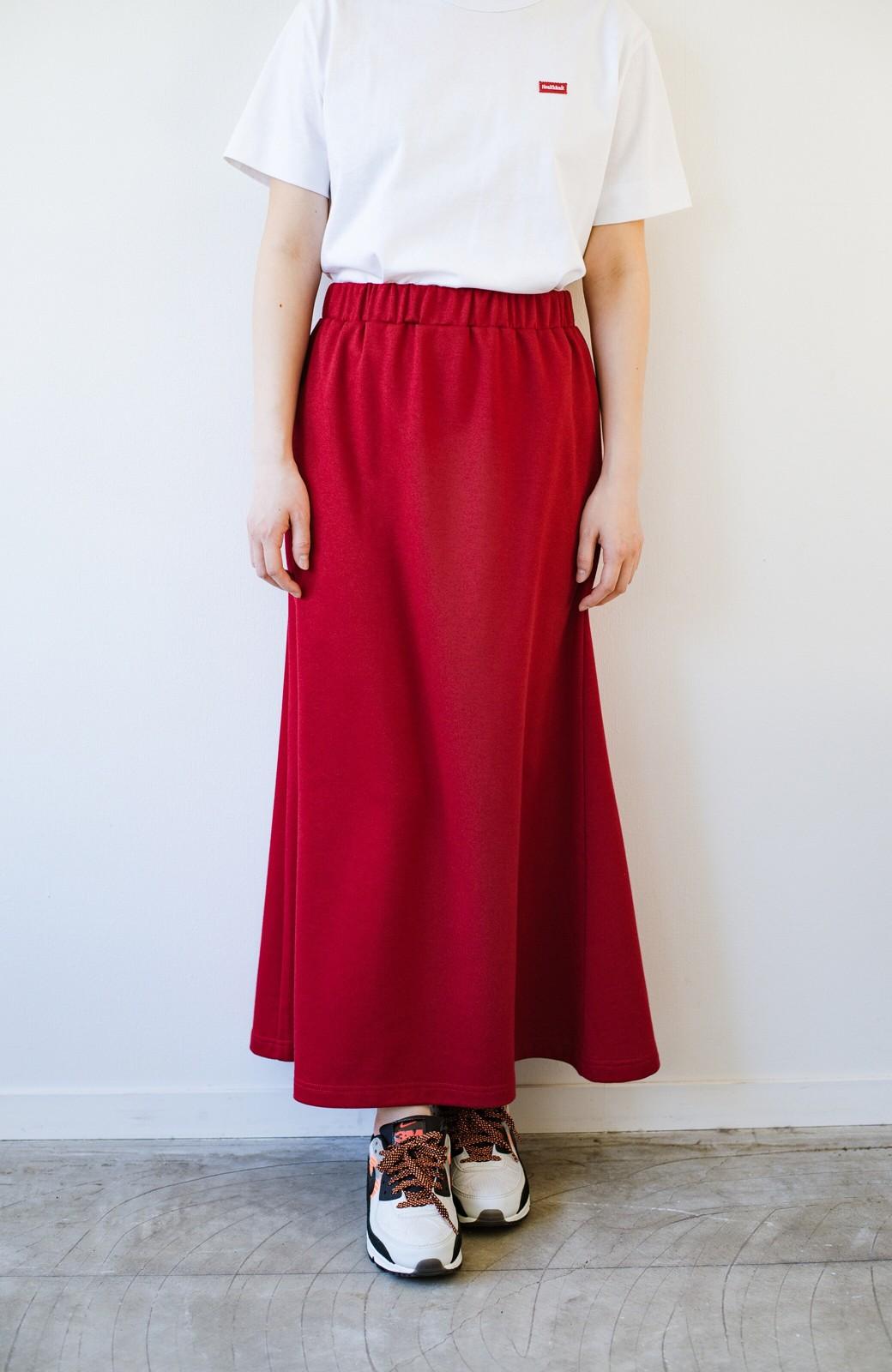 haco! 【洗濯機洗い可】日々に彩りをプラス!おしゃれ度と気分を上げてくれる綺麗色スカート <レッド>の商品写真18