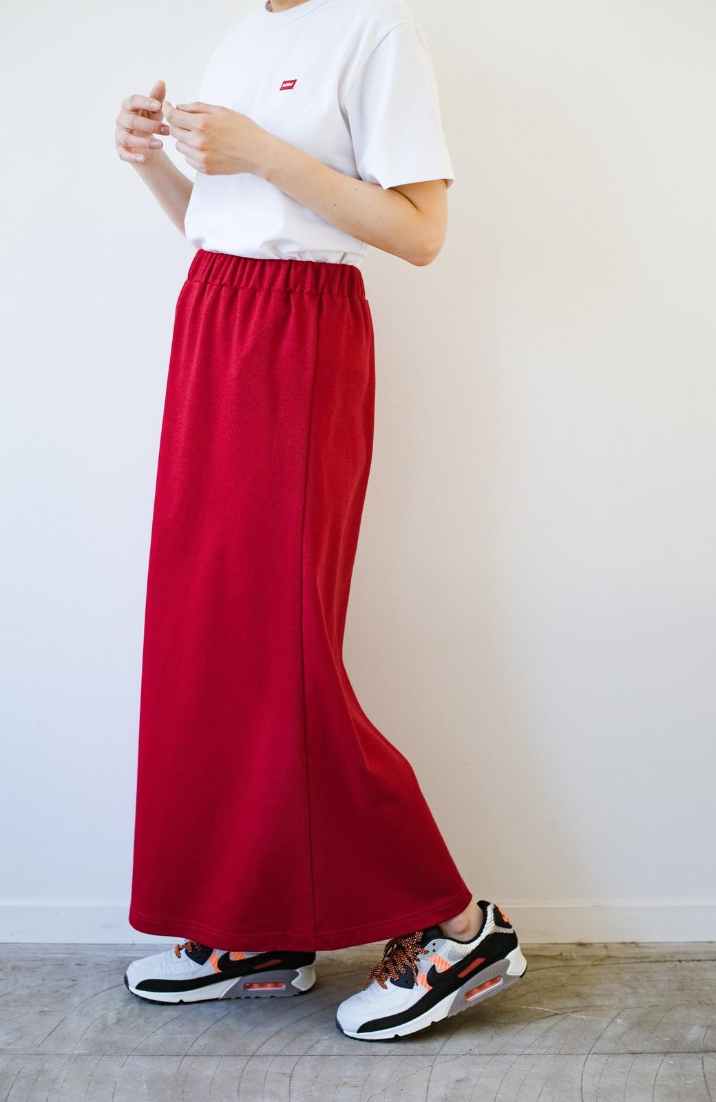 haco! 【洗濯機洗い可】日々に彩りをプラス!おしゃれ度と気分を上げてくれる綺麗色スカート <レッド>の商品写真10