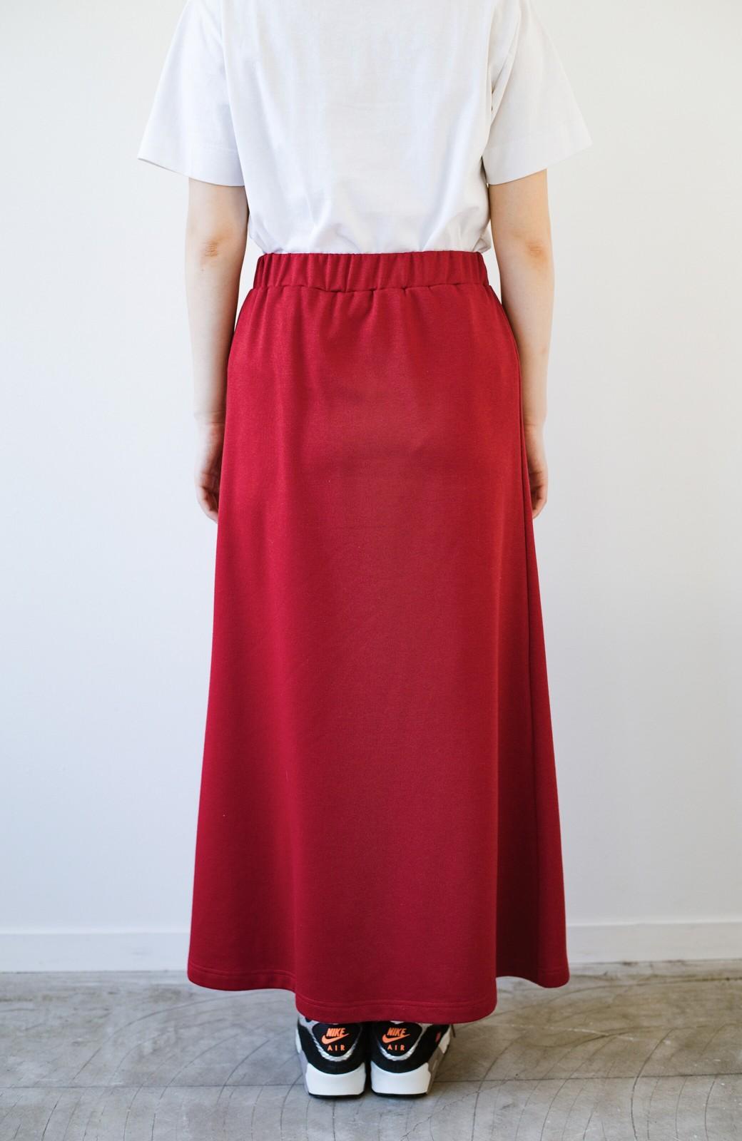 haco! 【洗濯機洗い可】日々に彩りをプラス!おしゃれ度と気分を上げてくれる綺麗色スカート <レッド>の商品写真11
