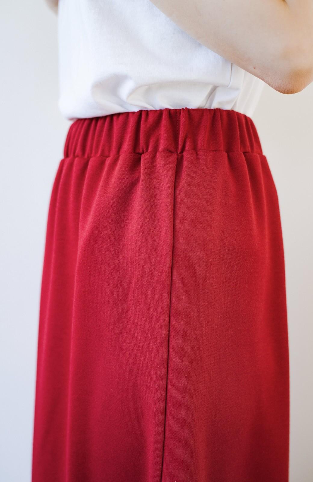 haco! 【洗濯機洗い可】日々に彩りをプラス!おしゃれ度と気分を上げてくれる綺麗色スカート <レッド>の商品写真12