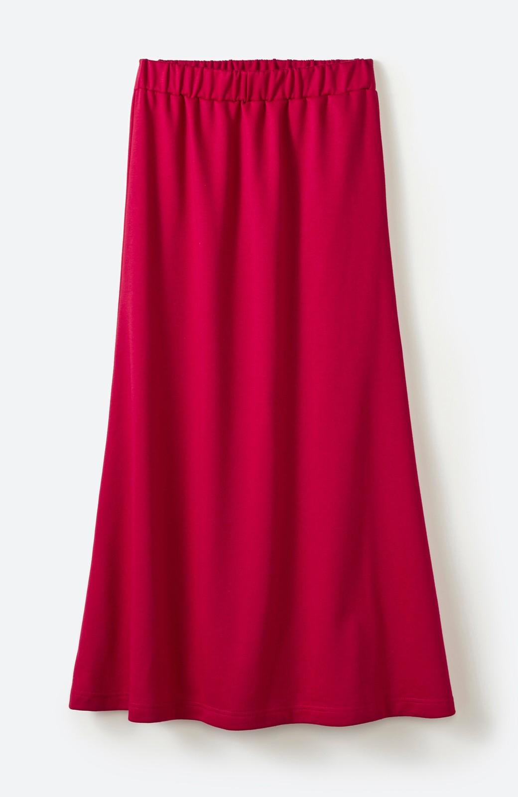 haco! 【洗濯機洗い可】日々に彩りをプラス!おしゃれ度と気分を上げてくれる綺麗色スカート <レッド>の商品写真19