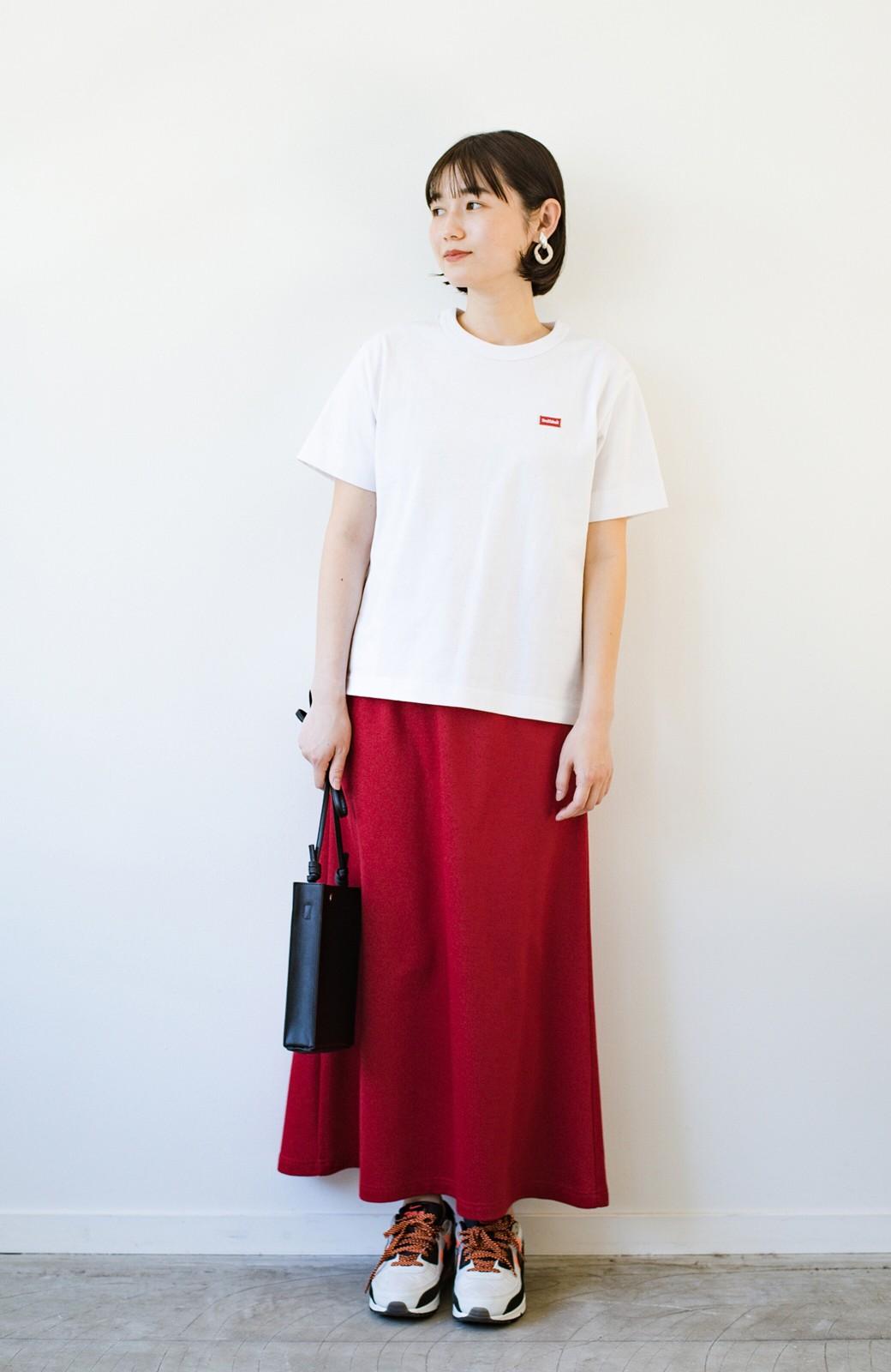 haco! 【洗濯機洗い可】日々に彩りをプラス!おしゃれ度と気分を上げてくれる綺麗色スカート <レッド>の商品写真8