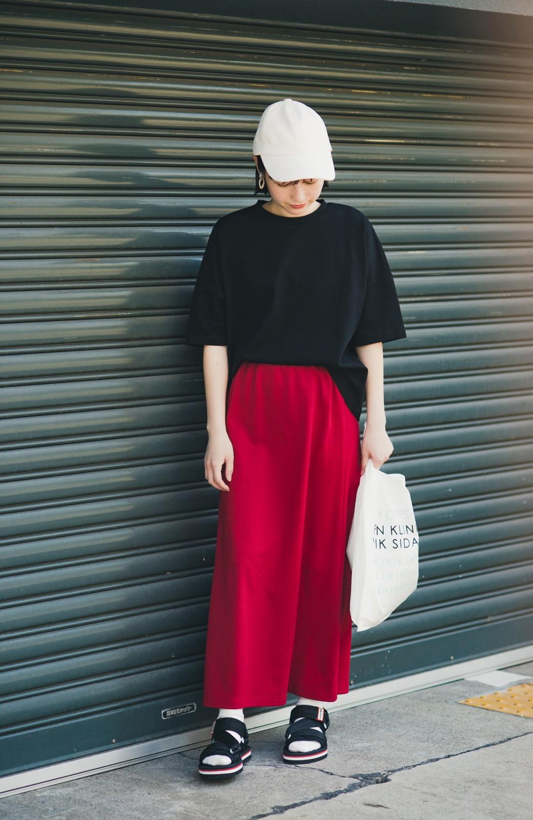 haco! 【洗濯機洗い可】日々に彩りをプラス!おしゃれ度と気分を上げてくれる綺麗色スカート <レッド>の商品写真15
