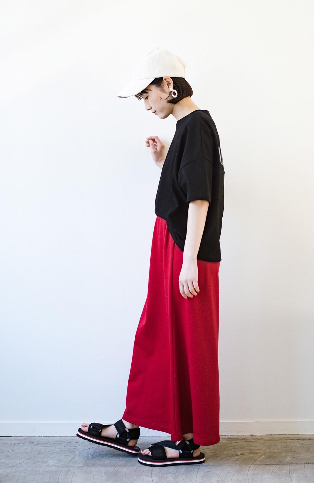 haco! 【洗濯機洗い可】日々に彩りをプラス!おしゃれ度と気分を上げてくれる綺麗色スカート <レッド>の商品写真16