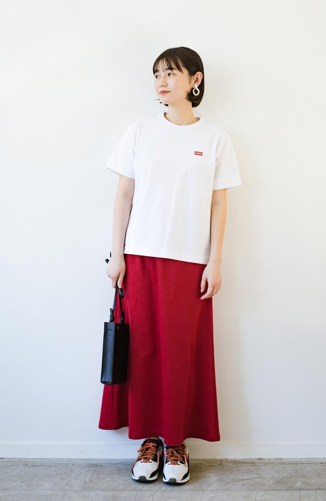 haco! さりげないロゴがコーデのポイントになるファンクションファブリックジャージークルーネックTシャツ by Healthknit <ホワイト>の商品写真8