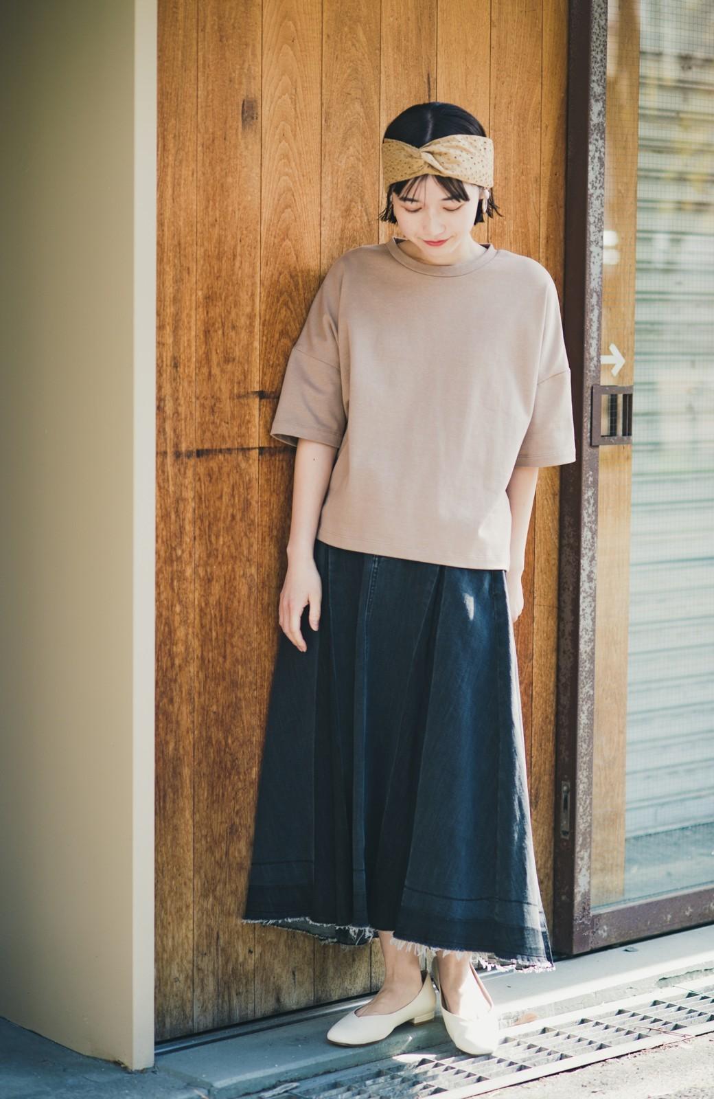 haco! 【新色登場&再入荷!】デニムパネルプリーツスカート <ブラック>の商品写真1