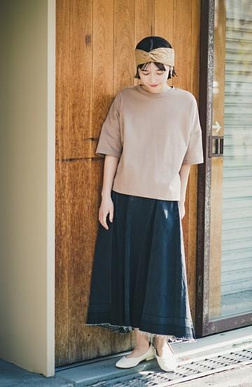 haco! 【新色登場&再入荷!】デニムパネルプリーツスカート <ブラック>の商品写真