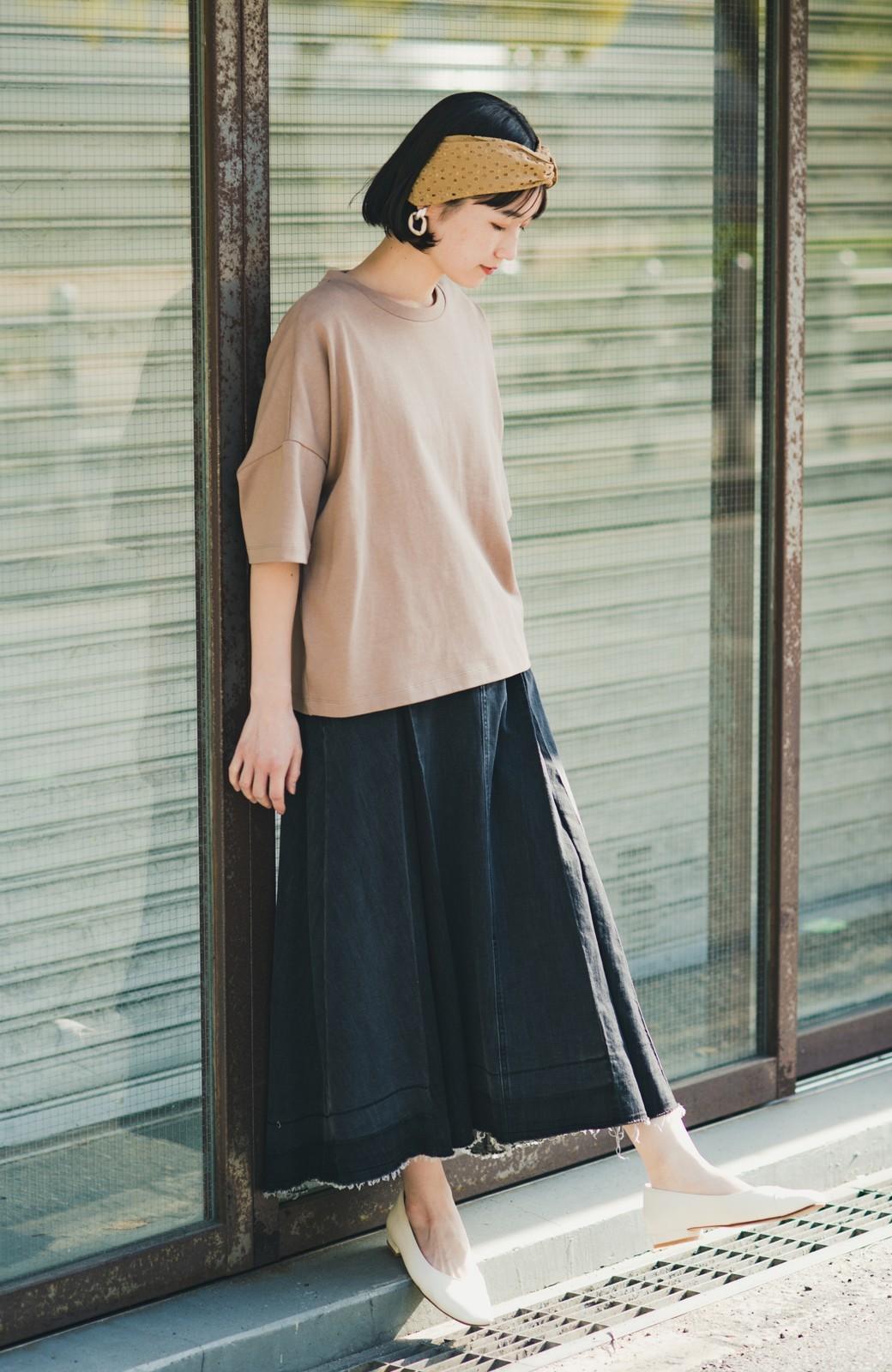 haco! 【新色登場&再入荷!】デニムパネルプリーツスカート <ブラック>の商品写真7