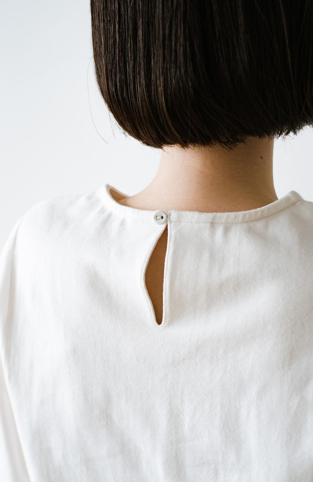 haco! Tシャツの代わりにこれ着とこう!二の腕隠してかわいげ増します!ちょうちん袖トップス by que made me <ホワイト>の商品写真11