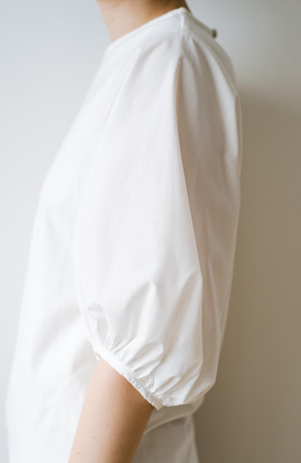 haco! Tシャツの代わりにこれ着とこう!二の腕隠してかわいげ増します!ちょうちん袖トップス by que made me <ホワイト>の商品写真9