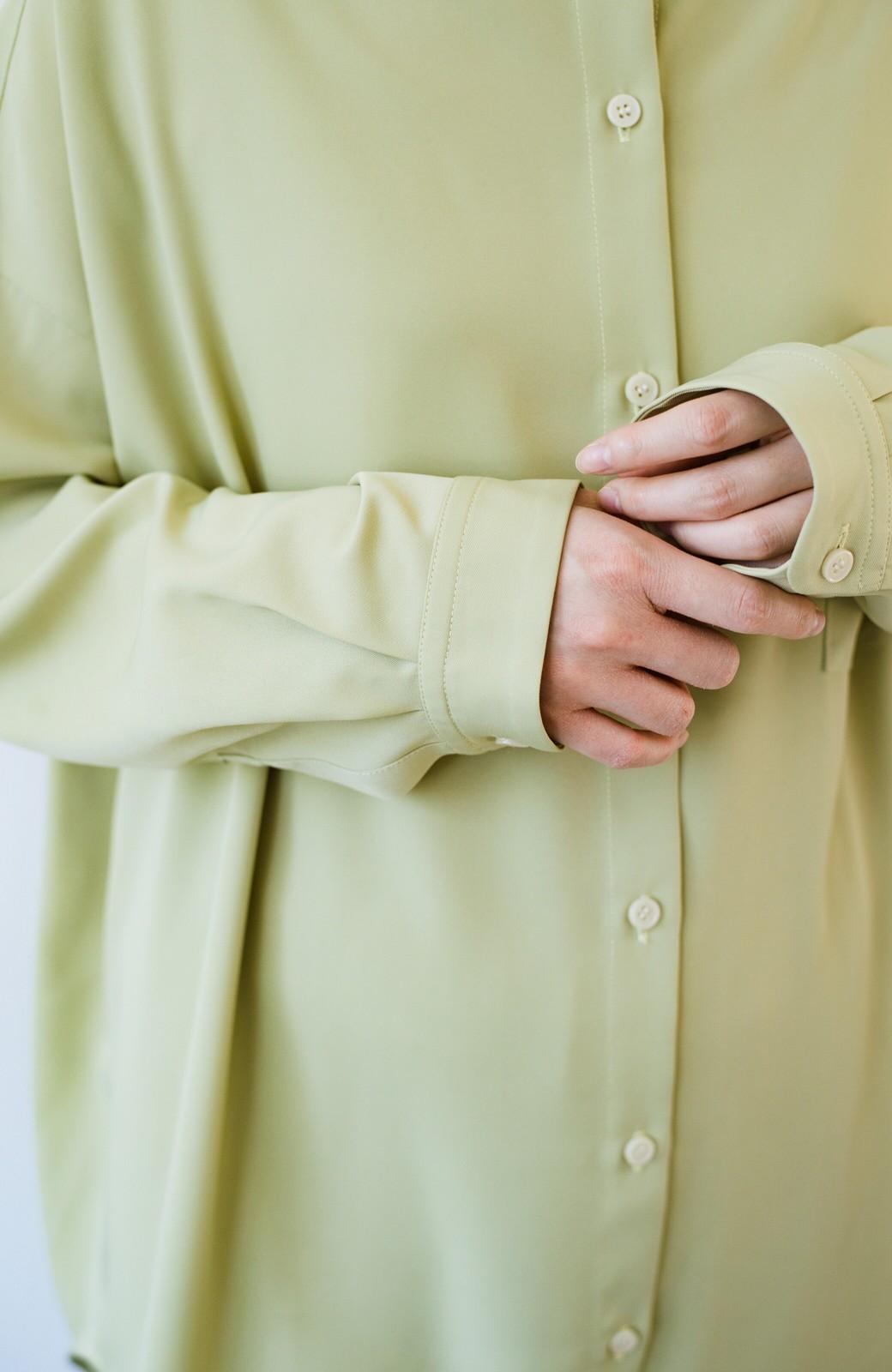 haco! カンタン今っぽ!シワになりにくく羽織りにもなるこなれ見えビッグシャツ <ライトオリーブ>の商品写真8