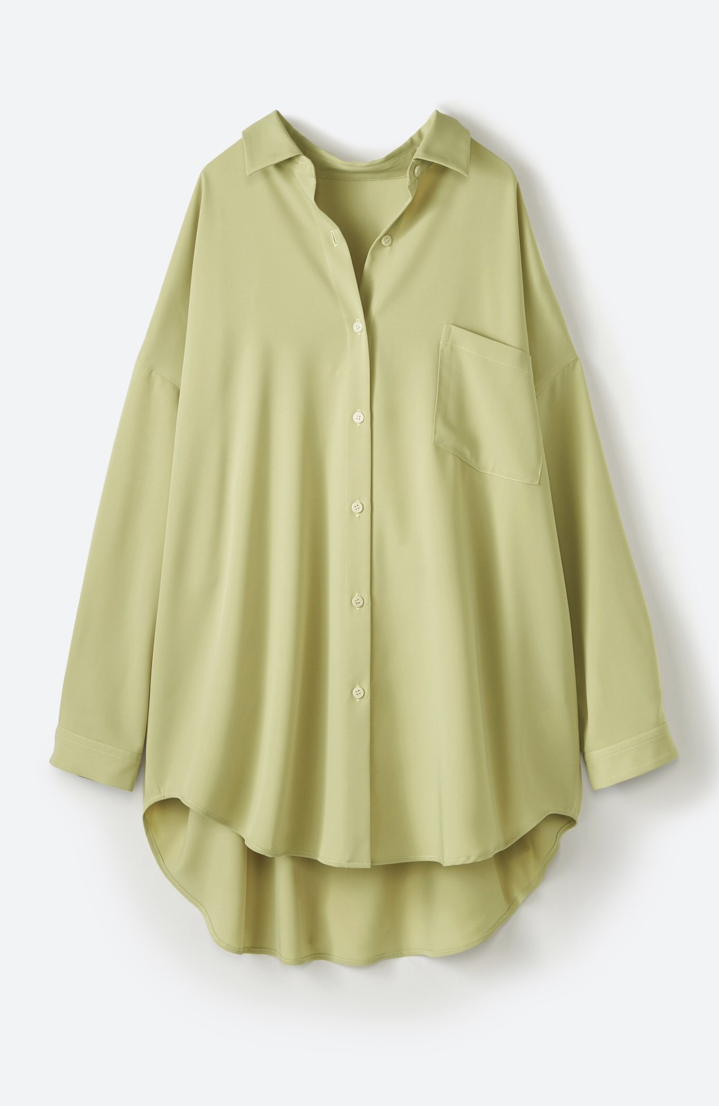 haco! カンタン今っぽ!シワになりにくく羽織りにもなるこなれ見えビッグシャツ <ライトオリーブ>の商品写真2