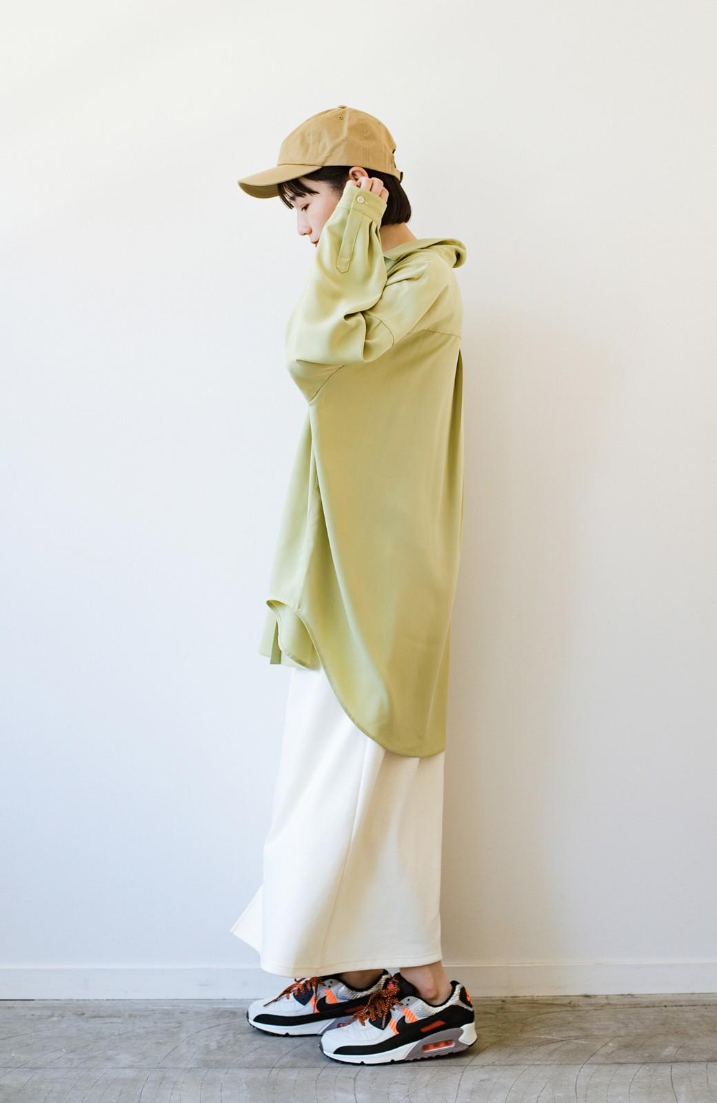 haco! カンタン今っぽ!シワになりにくく羽織りにもなるこなれ見えビッグシャツ <ライトオリーブ>の商品写真21