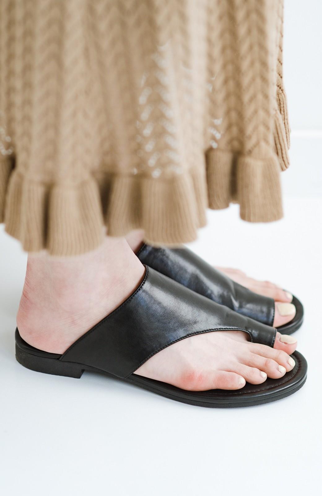 haco! ビーサンとスポサン禁止したらこれ履いとこう、楽して女っぽサンダル by que made me <ブラック>の商品写真5
