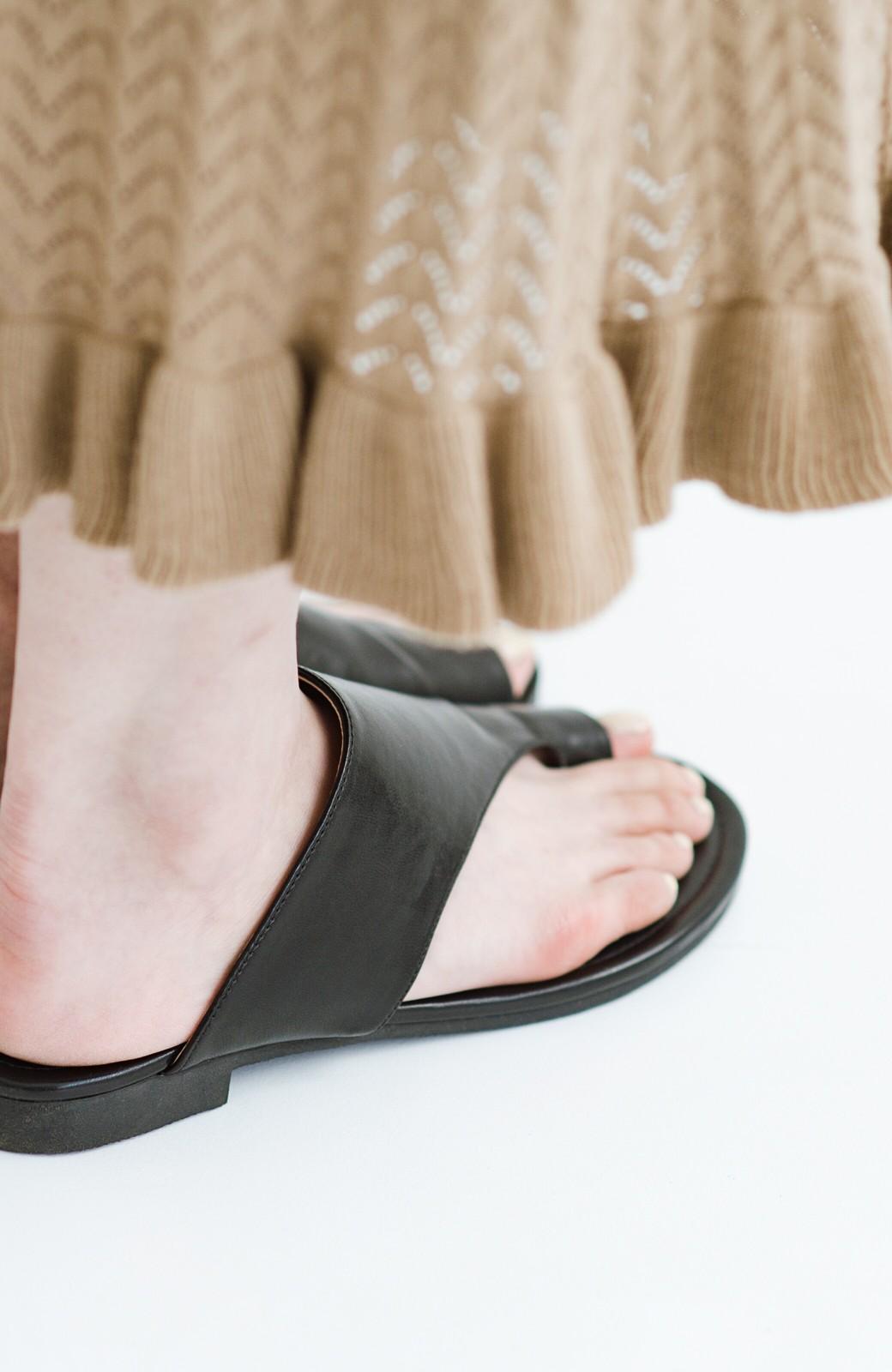 haco! ビーサンとスポサン禁止したらこれ履いとこう、楽して女っぽサンダル by que made me <ブラック>の商品写真6